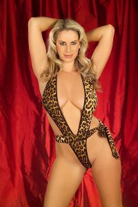 Sexy Leopard Tie Side Body Thong